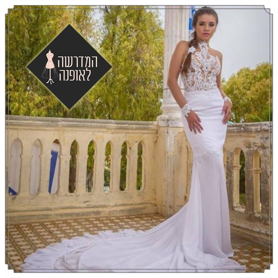 עיצוב שמלת כלה של ויקטוריה צבטקובה מקמפוס המדרשה באשדוד