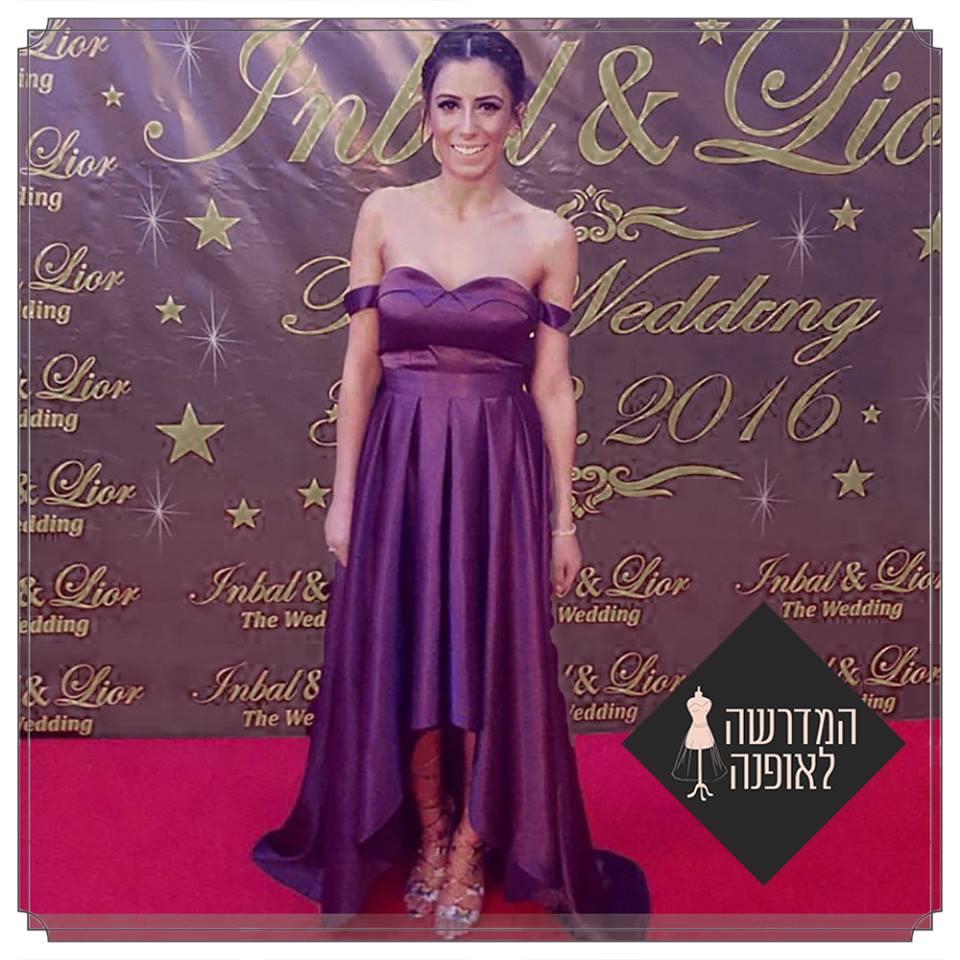 עיצוב שמלת ערב של דיה בוארון קמפוס אשדוד