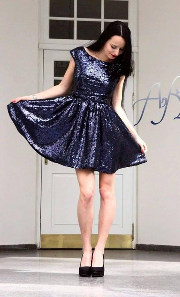 עיצוב שמלת ערב של אנה קרפיקו